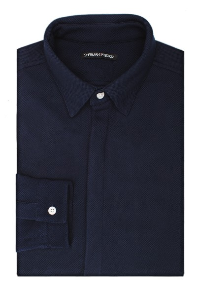 Sherman-Preston-SP201601B2-Cameron-Textured-Navy-Shirt