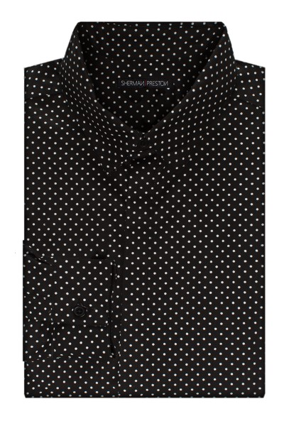 Sherman-Preston-SS201501B1-Cameron-Dots-Black-Shirt