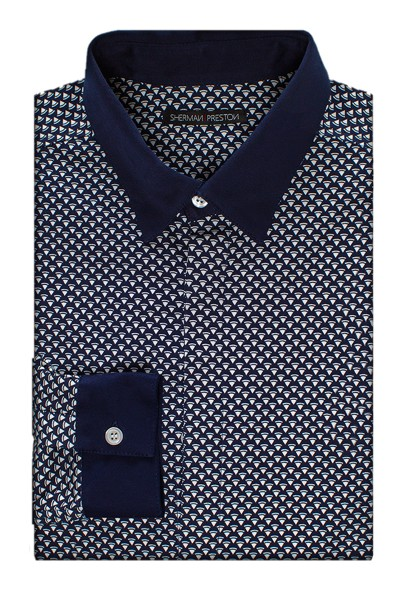 Sherman-Preston-SS201501B3-Cameron-Delta-Shirt