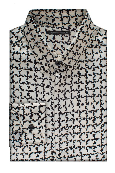 Sherman-Preston-SS201501B6-Cameron-Ivory-Black-Splatter-Shirt